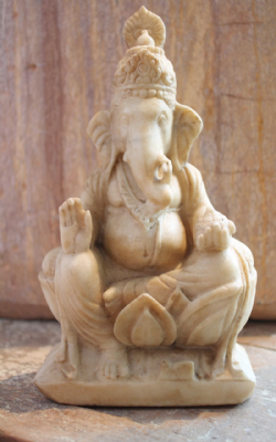 Antique Marble Carving of Ganesha, God of Wisdom <b>SOLD<b>